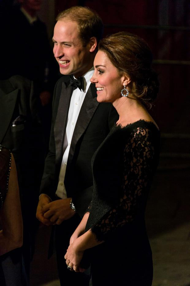 Catherine, Duchess of Cambridge and Prince William, Duke of Cambridge attend The Royal Variety Performance at the London Palladium