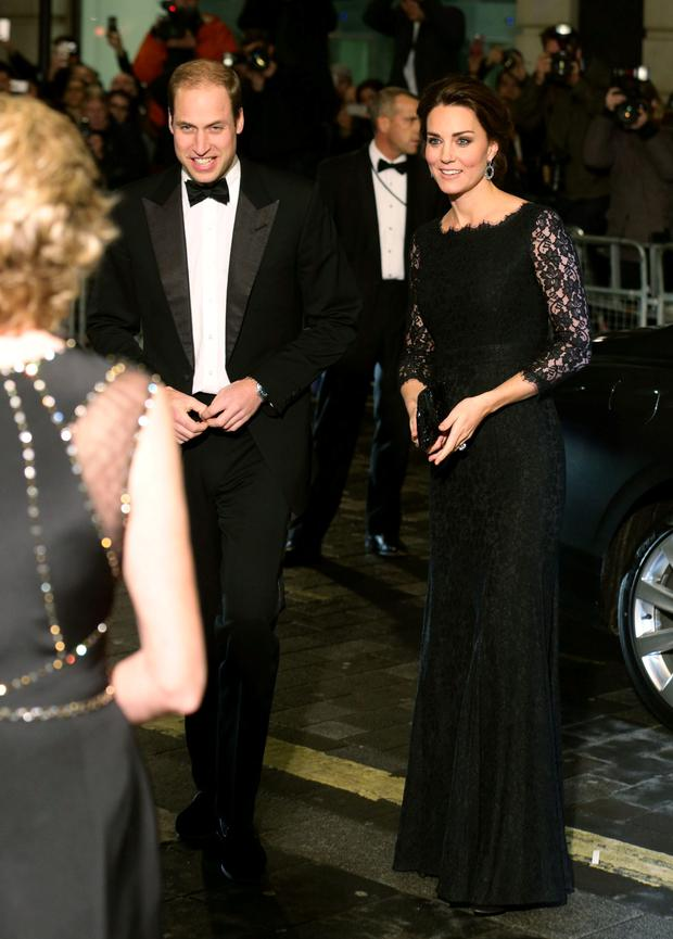 The Duke of Cambridge and The Duchess of Cambridge arriving at the Royal Variety Performance in support of the Entertainment Artistes' Benevolent Fund, at the Palladium Theatre in London.