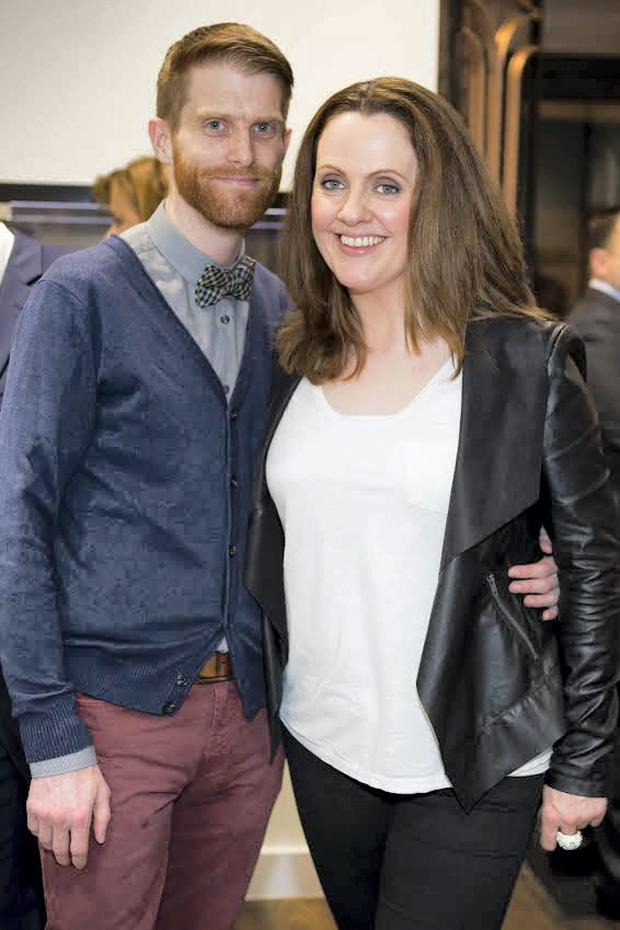 DJ Ruth Scott and Rob Morgan at the launch of Cullen and Co's new jewellery store in Castle Market Street, Dublin