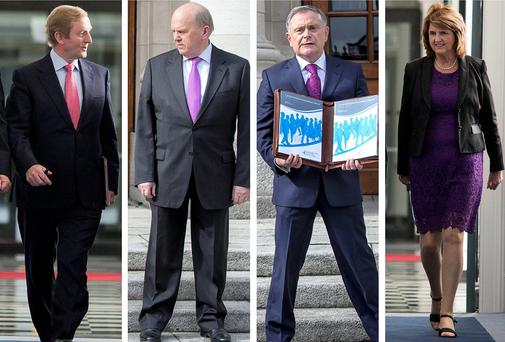 The Economic Management Council of Enda Kenny, Michael Noonan, Brendan Howlin and Joan Burton