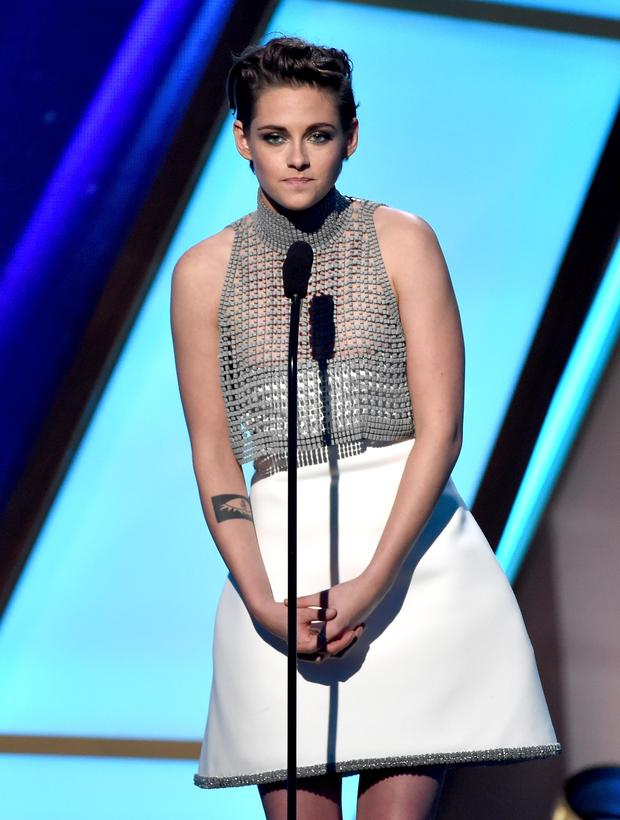 Actress Kristen Stewart speaks onstage during the 18th Annual Hollywood Film Awards at The Palladium on November 14, 2014 in Hollywood, California.