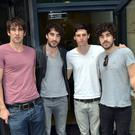 The Coronas (Danny O'Reilly, Conor Egan, Graham Knox, Dave McPhillips) at Today FM's Ray Darcy Show, Dublin, Ireland - 26.07.12.