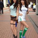 Models Georgia Salpa and Nadia Forde were BFFs in 2011