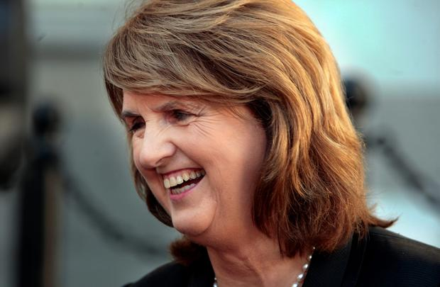 Joan Burton, who was trapped in her car at protests. Photo: Tom Burke