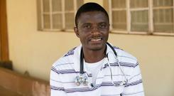 Dr Martin Salia poses for a photo at the United Methodist Church's Kissy Hospital outside Freetown, Sierra Leone. Nebraska Medical Center said in a news release Monday, Nov. 17, 2014, that Salia died as a result of Ebola
