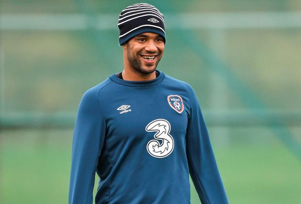 David McGoldrick is looking forward to making his debut for Ireland against the USA. Photo: David Maher / SPORTSFILE
