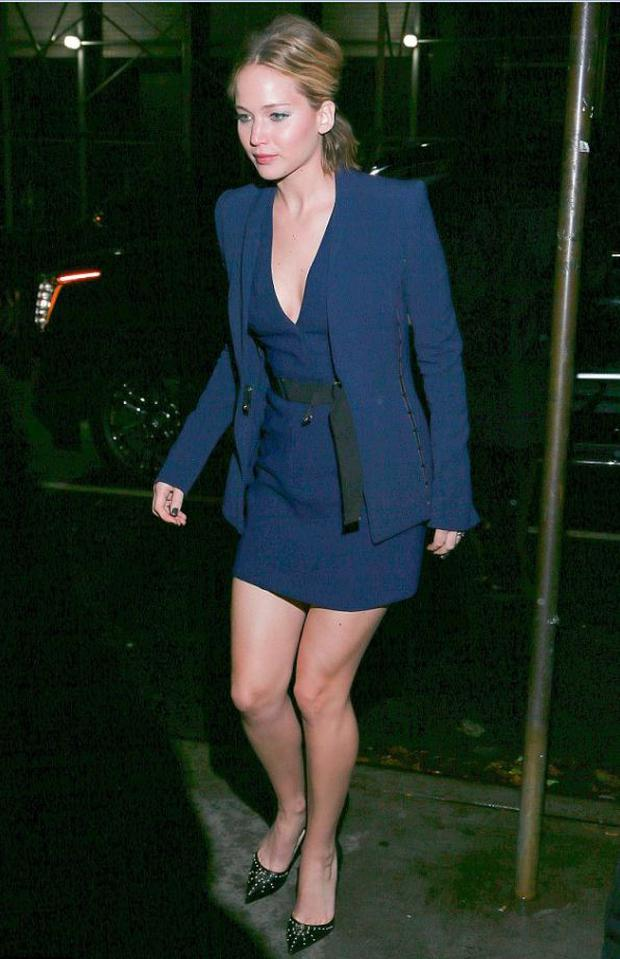 For a night out in New York, she wears a Mugler dress with Christian Louboutin shoes