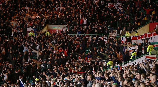 Controversy: The England band have sparked controversy by playing music to anti-IRA songs during the game with Scotland at Celtic Park.