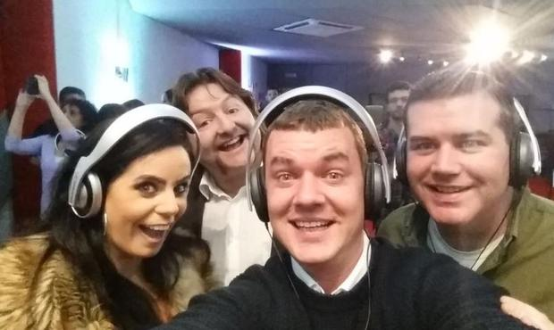 Audrey McGrath tweeted a selfie with Mrs Brown's Boys' Paddy Houlihan and former rugby pro Shane Byrne
