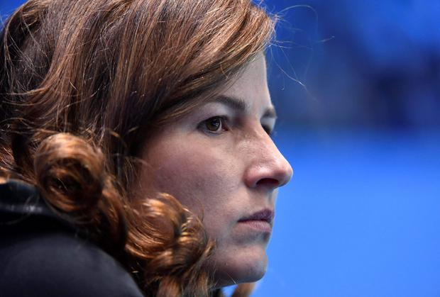 Mirka Federer is understood to be skipping the Davis Cup final in Lille, which may be a bonus for team unity after her dramatic contribution to Saturday's semi-final at the O2 Arena in London. REUTERS/Toby Melville
