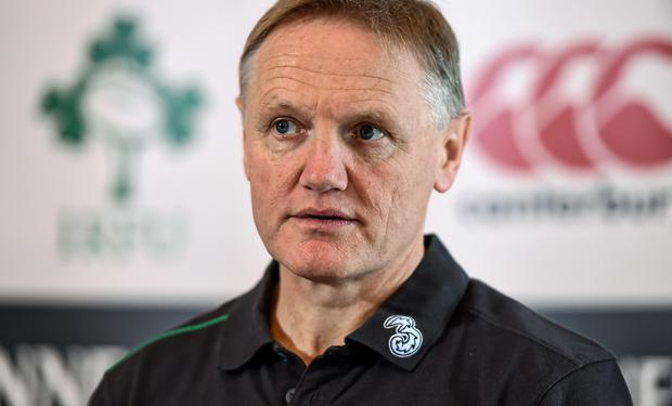 Ireland head coach Joe Schmidt during a press conference ahead of their side's Guinness Series match against Australia on Saturday (Stephen McCarthy / SPORTSFILE)