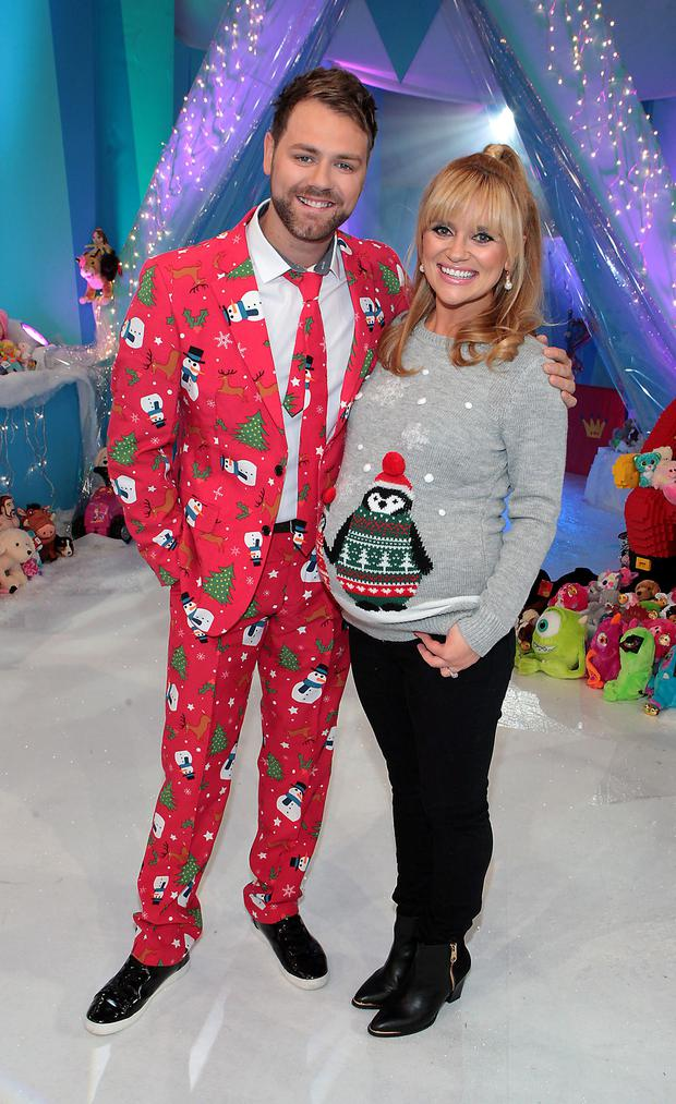 Brian McFadden and Karen Koster at Tv3's Toy Show at The Rds Dublin