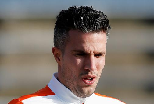 Robin Van Persie may not get the chance to add to his century of international caps