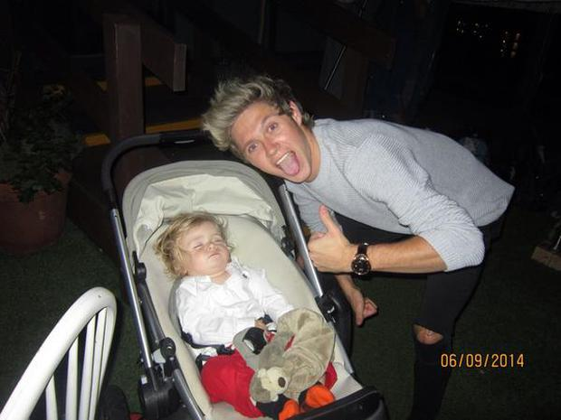 Theo and his uncle Niall Horan