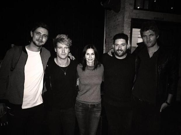 Courteney tweeted a photograph with Irish band Kodaline earlier this week.