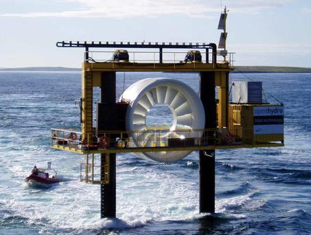 OpenHydro's turbine off the Orkneys, Scotland