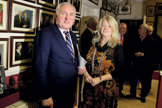 Bertie with his former wife Miriam Ahern at St. Luke's in 2010 before the announcement that he would not be running in the next general election.
