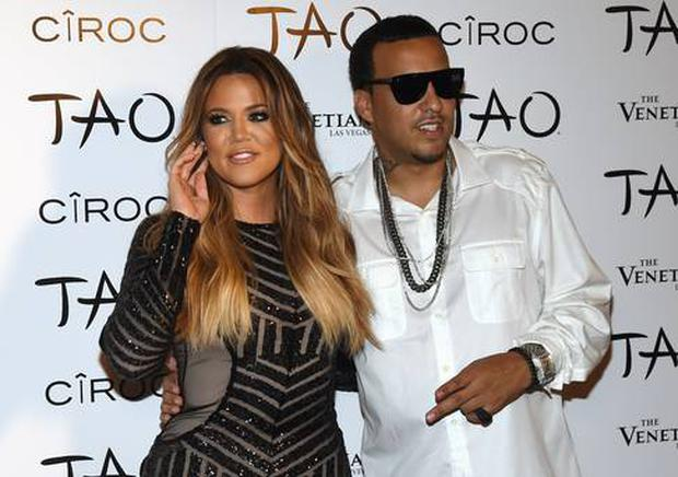 Khloe pictured with French Montana