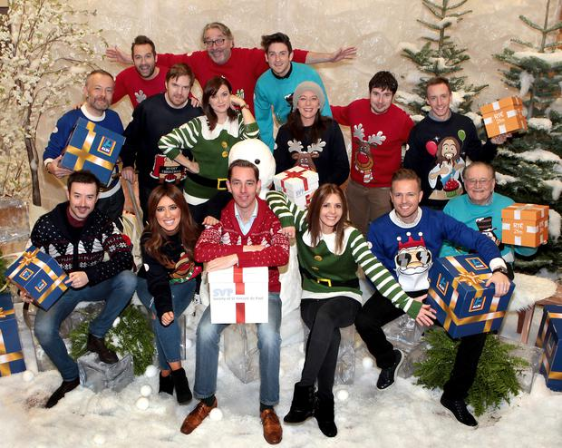 RTE's 2fm on air presenters launching the nationwide Give a Gift appeal for St Vincent de Paul in association with Aldi. Picture: Brian McEvoy