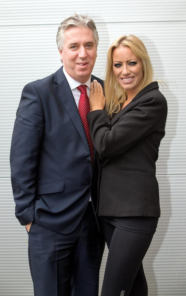 FAI Chief Executive John Delaney with his partner Emma English.