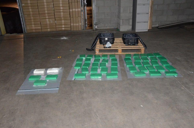 An estimated 50 kilograms of suspected cocaine was found at a commercial premises in County Tyrone yesterday.