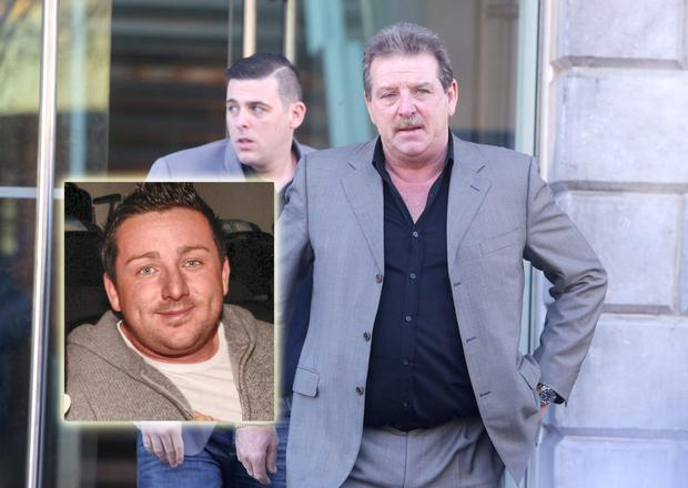 Steve and Steve Jnr pictured at the inquest into the death of their son and brother Roy Collins (inset) in Limerick Courthouse