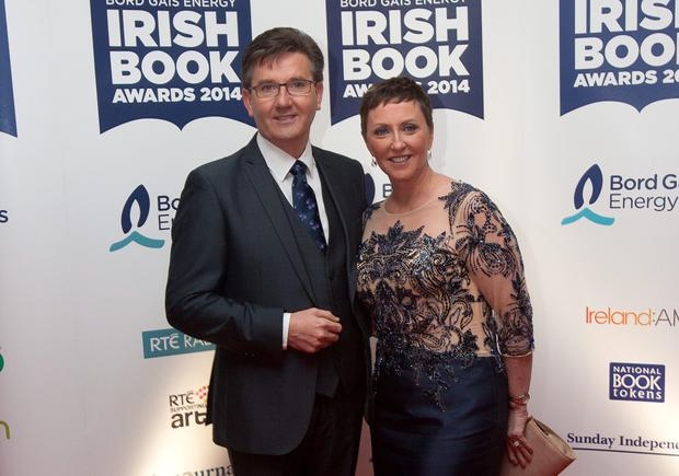 Majella and Daniel O'Donnell, during the ninth annual Bord Gv?is Energy Irish Book Awards 2014 at the The Double Tree by Hilton Hotel, Dublin. Photo: Gareth Chaney Collins