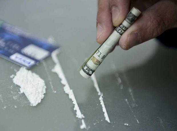 The tourists snorted white powder