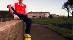 Stephen Bradley shortly after he signed for Arsenal in 2000. David Maher/SPORTSFILE