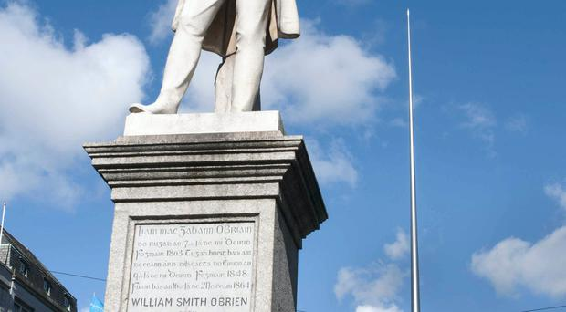 William Smith O'Brien's statue in the centre of Dublin. Photo: Eleanor Keegan