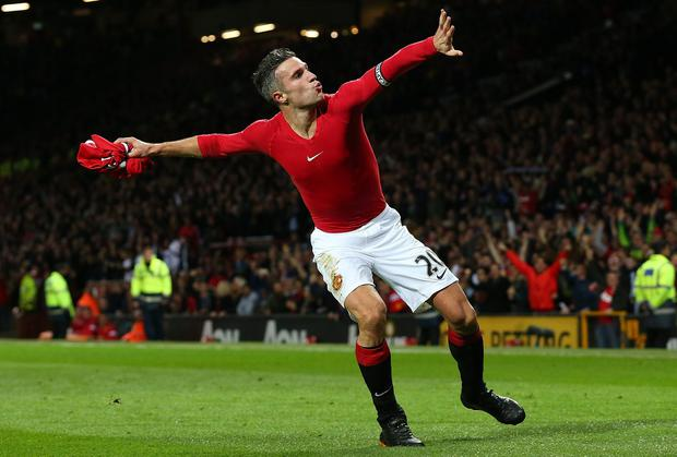 Manchester United's Robin van Persie is wanted by Inter Milan manager Roberto Mancini. Alex Livesey/Getty Images