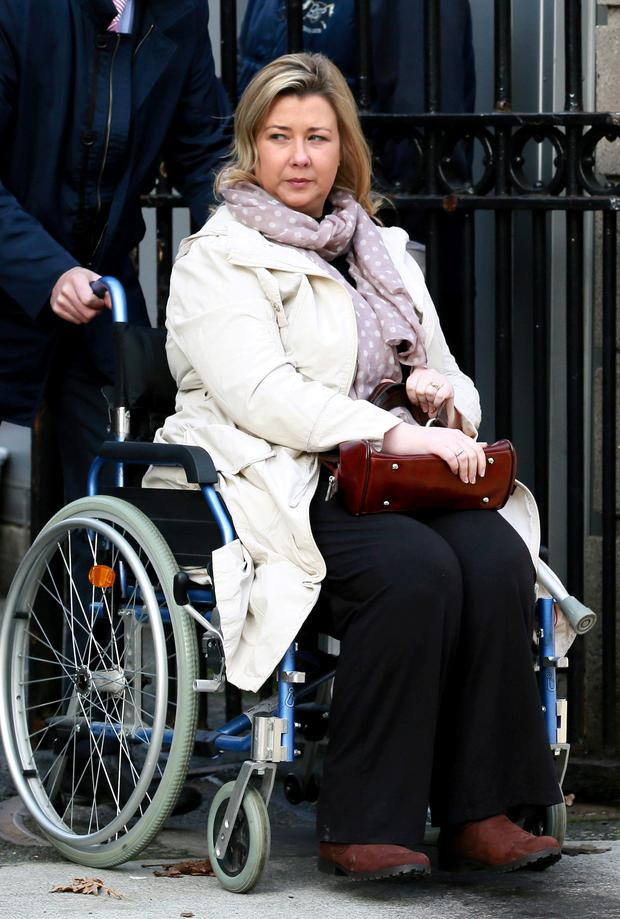 Gillian Treacy was left in a wheelchair after the crash that killed her son, Ciaran