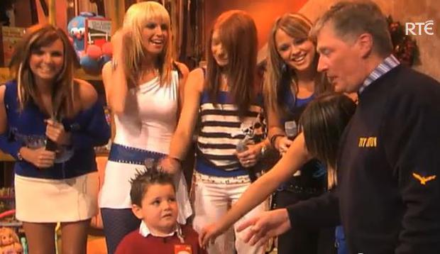 Toby meets Girls Aloud on the Late Late Show
