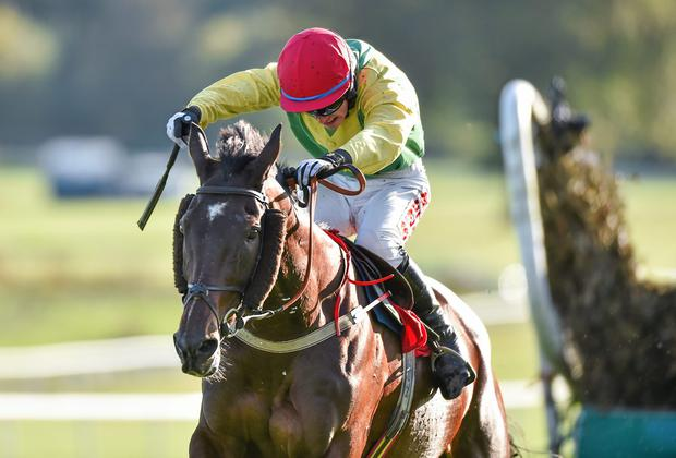 Jonathan Burke will be looking for a change in form when he jumps aboard Katie T at Fairyhouse. Photo: Matt Browne / SPORTSFILE