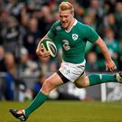 Eye-catching sparks from Stuart Olding against Georgia, serve to remind us of the quality now available to Joe Schmidt. Stephen McCarthy / SPORTSFILE
