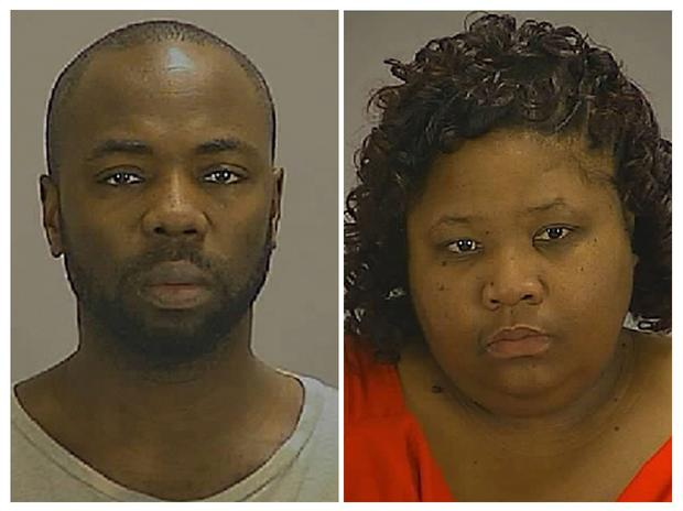 Gregory Jean and Samantha Joy Davis are pictured in this booking handout photo provided by the Clayton County Sheriff's Department. REUTERS/Clayton County Sheriff's Department/Handout