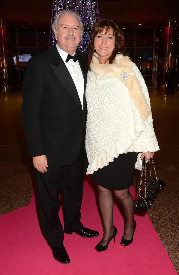 Marty and Maria Whelan on the pink carpet in advance of Strictly Against Breast Cancer to raise funds for Breast Cancer Ireland at the Convention Centre