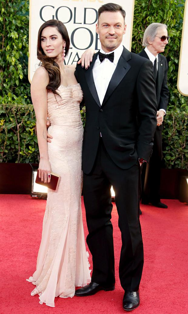 Megan Fox secretly wed long-time love Brian Austin Green in a barefoot beach ceremony in 2010 in Hawaii with only his eight-year-old son Kassius present.