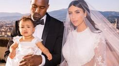 She wore a mini couture Givenchy dress to her parents wedding in May.