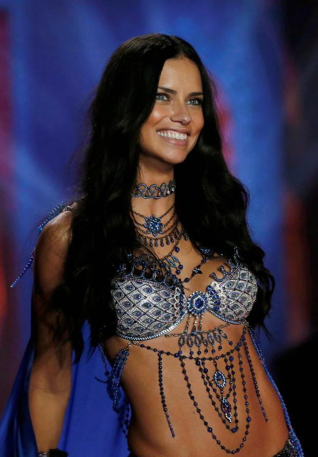 Model Adriana Lima at the 2014 Victoria's Secret Fashion Show.