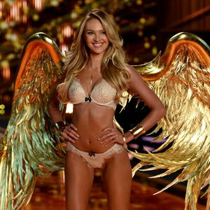 Candice Swanepoel walks the runway during the 2014 Victoria's Secret Fashion Show at Earl's Court Exhibition Centre. Photo: Getty Images
