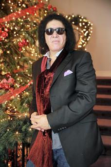 Gene Simmons from the rock band Kiss, at the Merrion Hotel in Dublin after visiting Leinster House. Picture: Arthur Carron