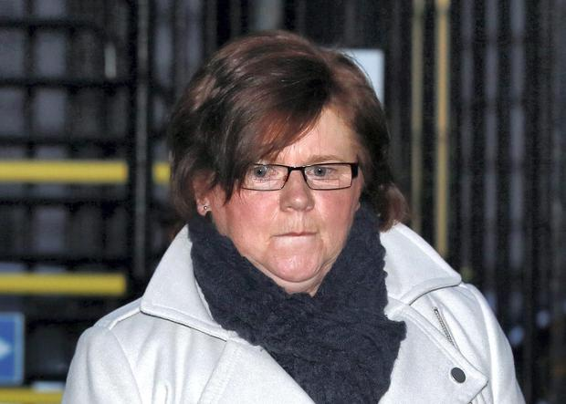 Marie Farrell pictured leaving the Four Courts yesterday(Tues) after giving evidence during for the fifth week of a High Court action taken by Ian Bailey. Pic: Courts Collins