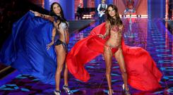 Adriana Lima and Alessandra Ambrosio in their Fantasy Bras