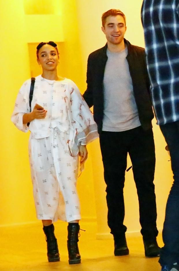 Singer FKA Twigs and Robert Pattinson attend a Surface Magazine Event With Hans Ulrich Obrist And FKA Twigs at Edition Hotel on December 4, 2014 in Miami, Florida.