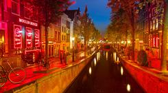 The Red-light district in Amsterdam, Netherlands