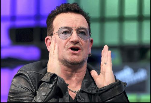 Bono speaking at last year's Web Summit