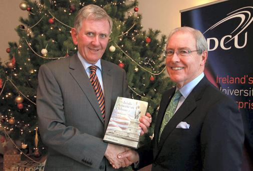 Book launch: Colum Kenny and Kevin O'Malley.