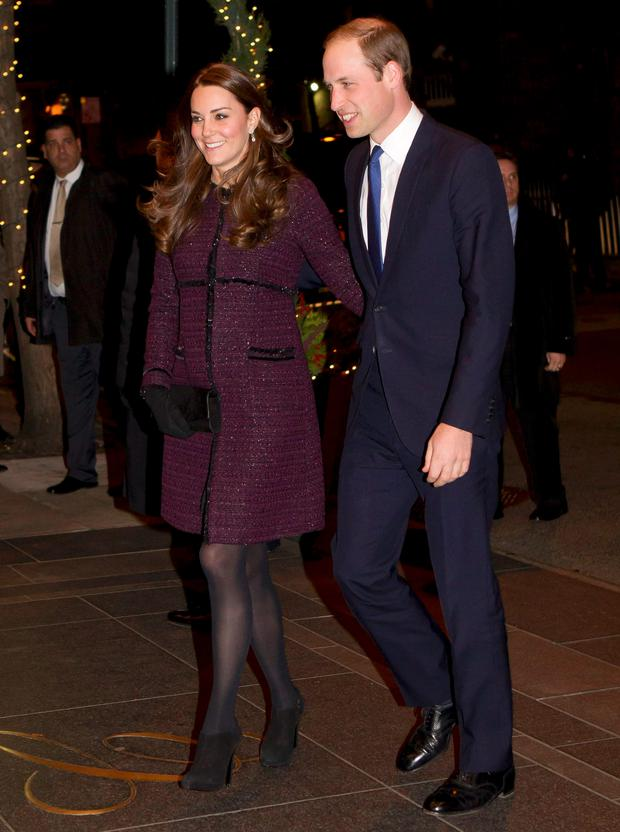 Britain's Prince William, Duke of Cambridge, and his wife Kate arrive at the Carlyle hotel in New York, December 7, 2014. The couple are on their first visit to New York City, a whirlwind trip that includes visits to a Harlem child development center and the September 11 Monument and Museum. REUTERS/NY Post/Chad Rachman/Pool