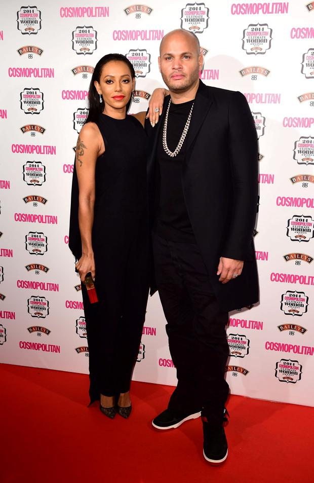 Mel B and Stephen Belafonte attend the Cosmopolitan Ultimate Women of the Year Awards at One Mayfair in London